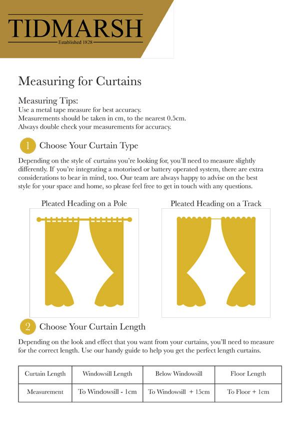 Measuring Guides by Tidmarsh Blinds