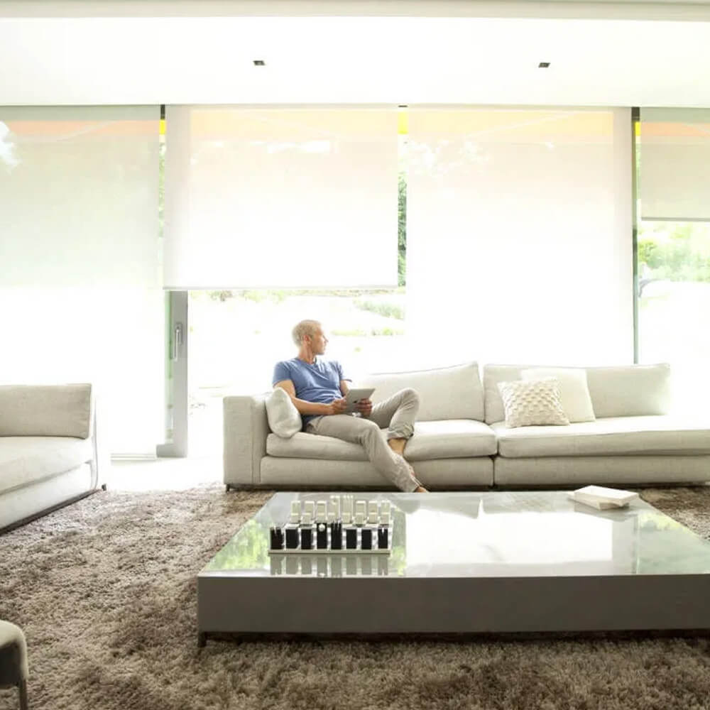 Electric Roller Blinds by Tidmarsh